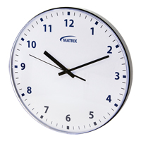 12 H Battery Operated Wall Clock OP237 | Rideout Tool & Machine Inc.